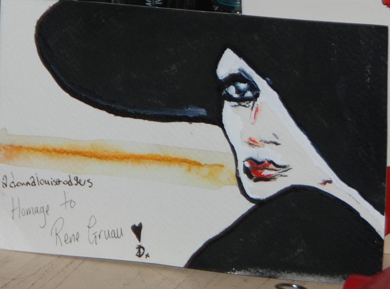 Rene Gruau inspired mail art