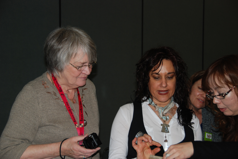 Anita Hickson (left) with Susan Lenart Kazmer (right). I am behind the camera!