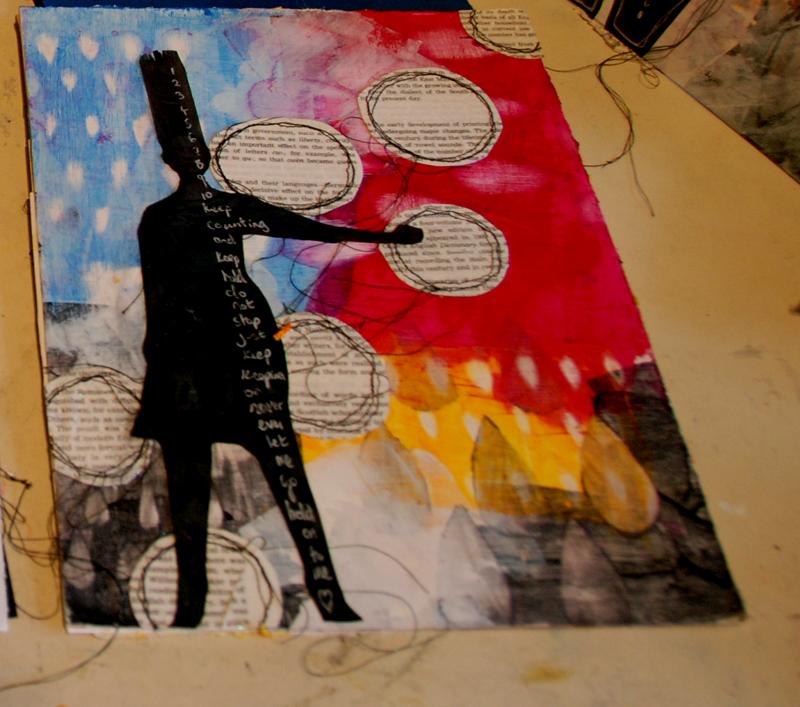 copyright donnalouiserodgers, Dina Wakley inspired