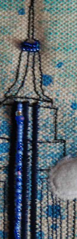 I also added beads to the building on this page