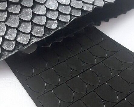 Scalemail without the fuss. - Add Foam Scales to your next project for a quick and easy alternative to metal scales. These 2mm EVA foam scales are easy to apply using contact cement or even hot glue!