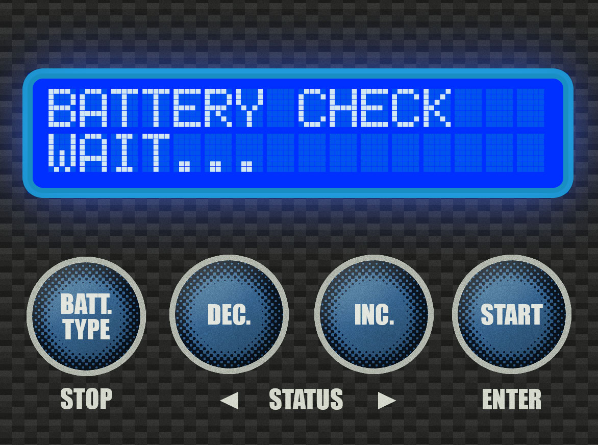 Step 6 - When you press and hold [START] as instructed above, the charger will beep and flash this message to you. Then it will proceed to the next screen.