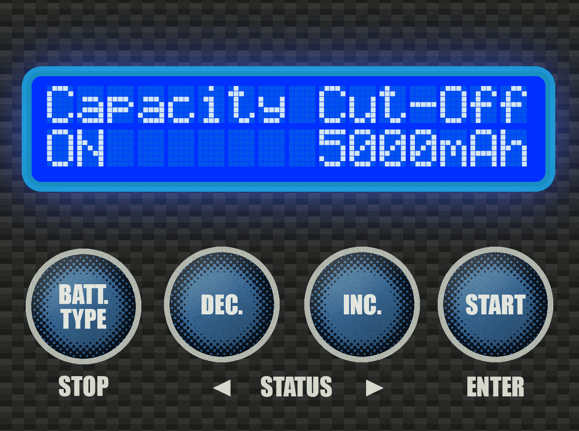 """Step 3 - This is the Capacity Cut-Off screen. We want to leave the cut-off on, but raise the limit. Let's start by pressing the [START] Button. The """"ON"""" will begin to blink. Press [START] again to move on to the capacity."""