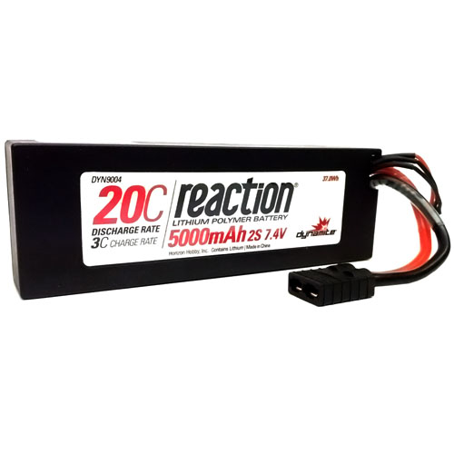 5000mAh 2S 20C LiPo - Position Last Year: 7th Last year, the Duratrax Onyx 5000mAh 2-cell LiPo made 7th place. Since then, we switched brands over to the Dynamite Reaction line. This allowed us to slash prices on LiPos, going from a $60 down to $40 for an equivalent battery pack. While our margin isn't as high, sales haven't disappointed, and the Dynamite Reaction batteries are a clear 'win' for hobby shops looking to do battle with online wholesalers from overseas. With their competitive price point to their 1-year warranty, the 5000mAh 2-cell LiPo has been a staple in our line up.Horizon's commitment to their dealer network allowed these LiPos to make it to market. Making it to number nine on our list is impressive, and all the more so when you consider they released in March. Without being available for the first three months of the year, the Dynamite Reaction batteries managed to make our list at number ten; an impressive debut year that, I'm sure, will be improved upon in the new year.