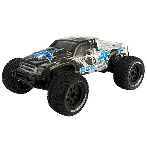 ECX Ruckus - Position Last Year: N/AI like the Ruckus. Despite having some minor misgivings with ECX's handling of hop up parts, I think the Ruckus is a good truck. Its longer wheelbase than the Traxxas Stampede means more traction for the front tires; it's hard to steer when the wheels are in the air. It's durable, up-gradable, and sports a mean looking body. All of these features make it a beacon for first-time R/C drivers. Toss in the 2-amp peak charger, and you've got a package that's competitive with nearly anything else on the market.Along with its cousin in fourth place, the Ruckus proved that you don't have to have 'Traxxas' on the box to sell. Wherever ECX goes from here, the Ruckus has given them a good head start on the rest of the pack. And that's why it lands the number nine spot on our countdown.