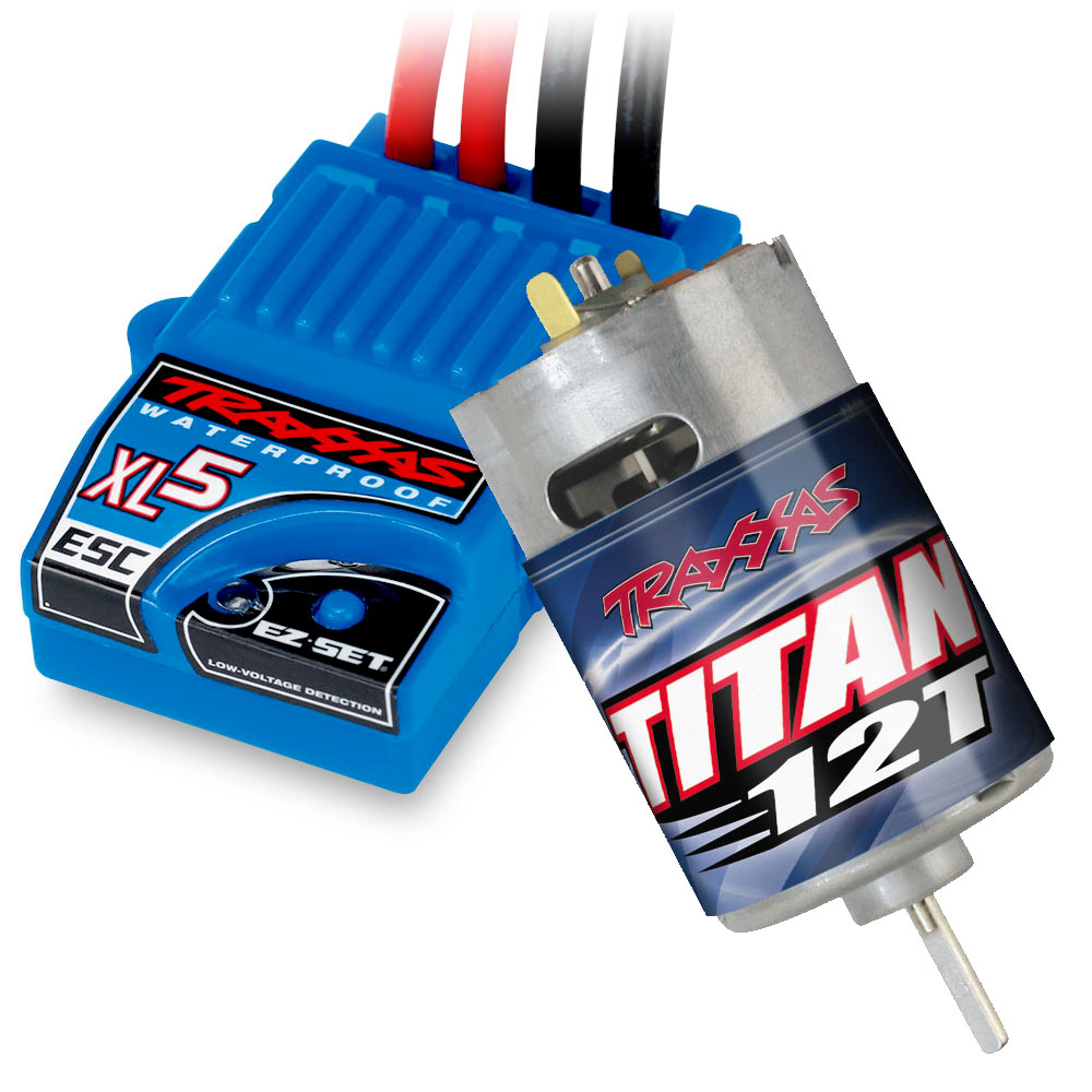 Brushed Motor & Speed Control - The Titan 12T 550 modified motor pumps out incredible power with virtually maintenance-free operation and long-lasting performance. The XL-5 Electronic Speed Control comes standard with three drive profiles, low voltage detection, and thermal shutdown protection.