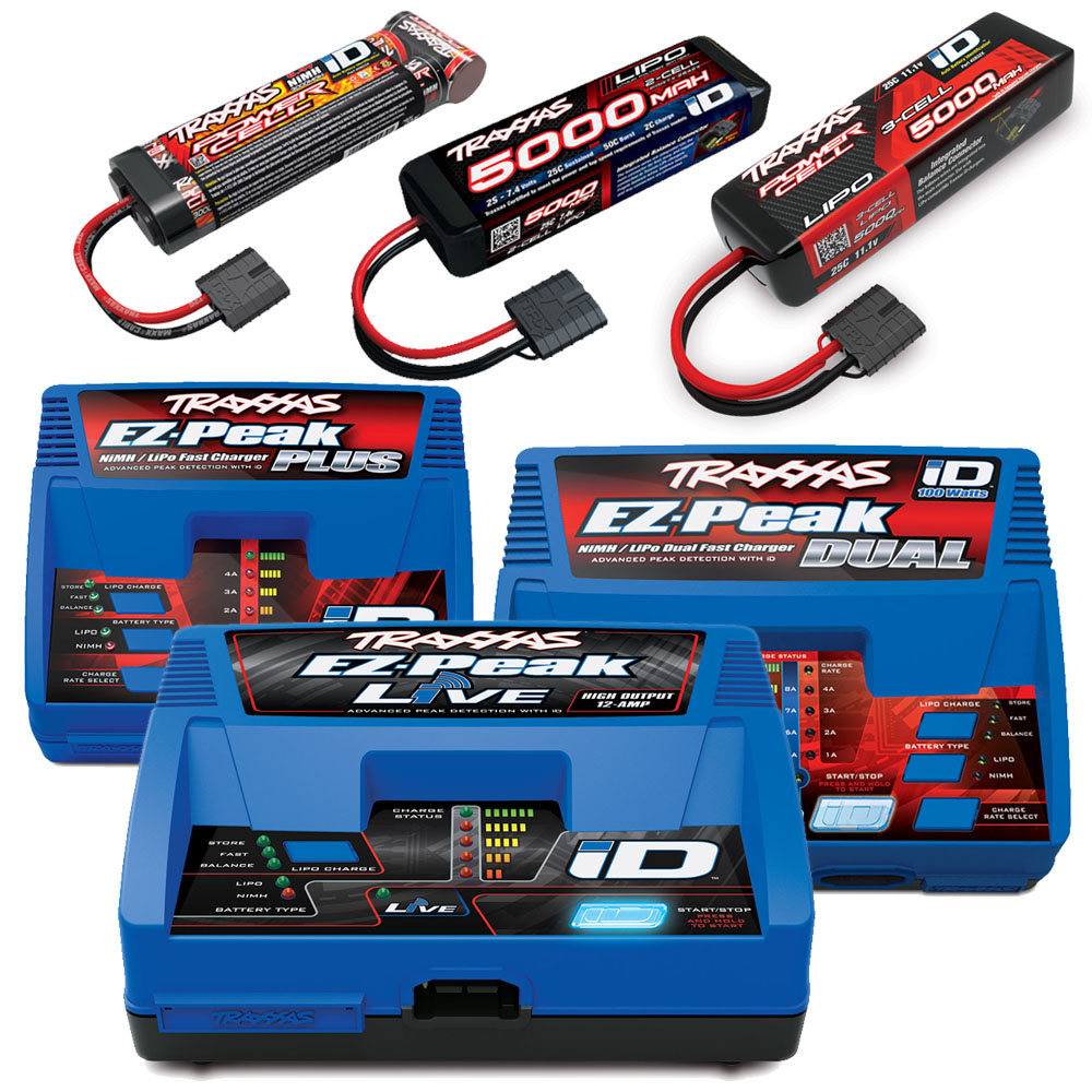 The Freedom of Choice - Traxxas' brushless trucks don't package in a battery and charger, allowing the user to choose the power system that best fits their needs. If a child will be using the truck, maybe a NiMH battery and less expensive charger is best, or for an R/C veteran, perhaps a LiPo battery and high-end charger is the way to go. No matter what battery and charger combination you choose, the choice is always yours!