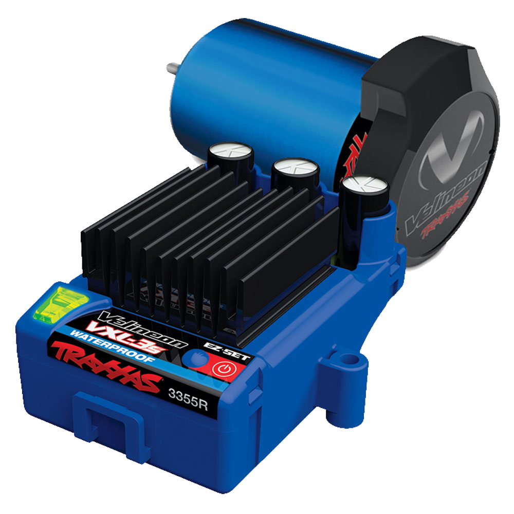 Brushless Motor & Speed Control - The Velineon Brushless Motor System delivers incredible power and efficiency with virtually maintenance-free operation, longer run times, and faster speeds. The VXL-3S Electronic Speed Control comes standard with three drive profiles, low voltage detection, and thermal shutdown protection.
