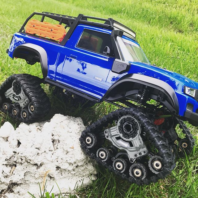 The new TRX-4 Sport Traxxas Edition DEMO has arrived. Come drive it today! Have a TRX-4 and still on the fence about a set of Traxxas? Drive our Traxx-equipped truck and see for yourself just how cool these treads are! #traxxas #hobbies #rockcrawler #traxx #saginaw #baycity #midland #michigan