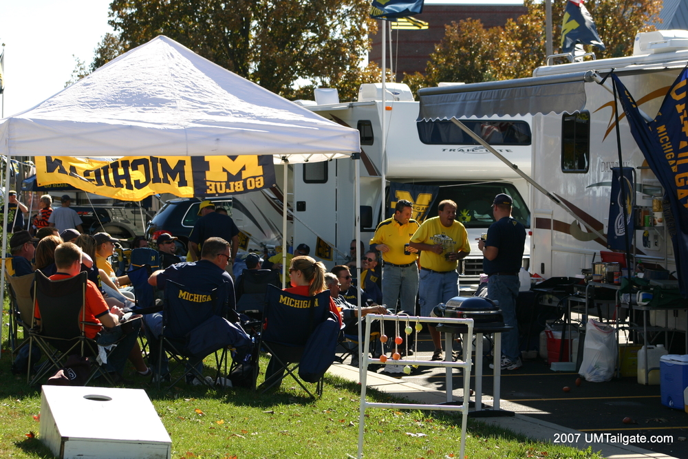 October 20, 2007: The Winnebago setup in Champaign, Illinois before Michigan's 27-17 victory over the Fighting Illini.