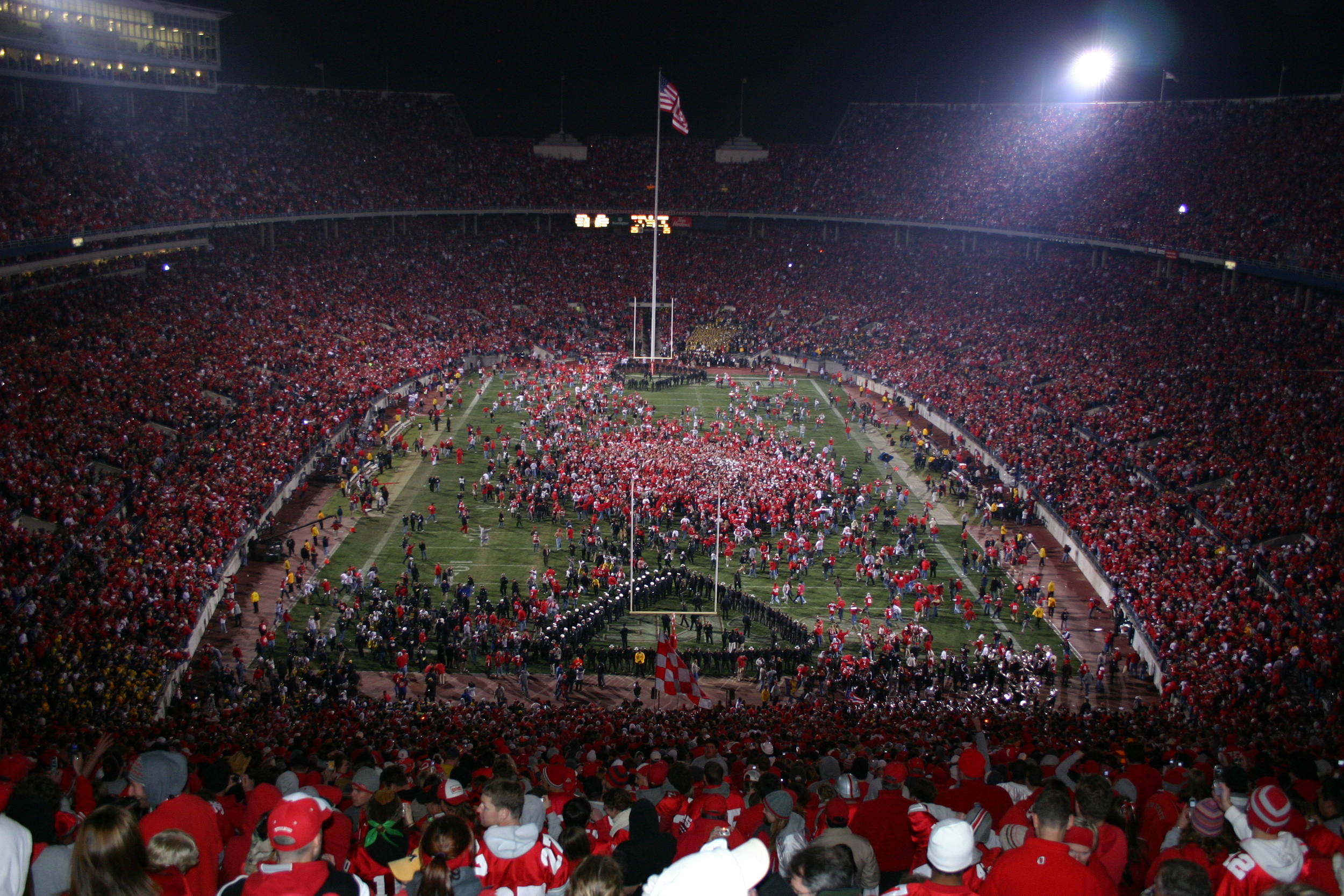 My view in 2006. It (rushing the field) has happened three times now in my presence: 2002, 2006, 2012.
