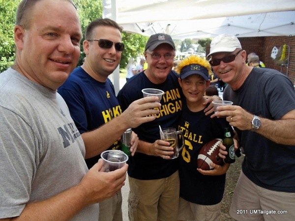 September 3, 2011.  Luau themed tailgate and a 34-10 victory for Michigan over Western Michigan.