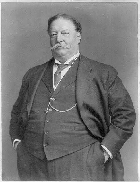 William Howard Taft: Never ate anything from a vegetable garden