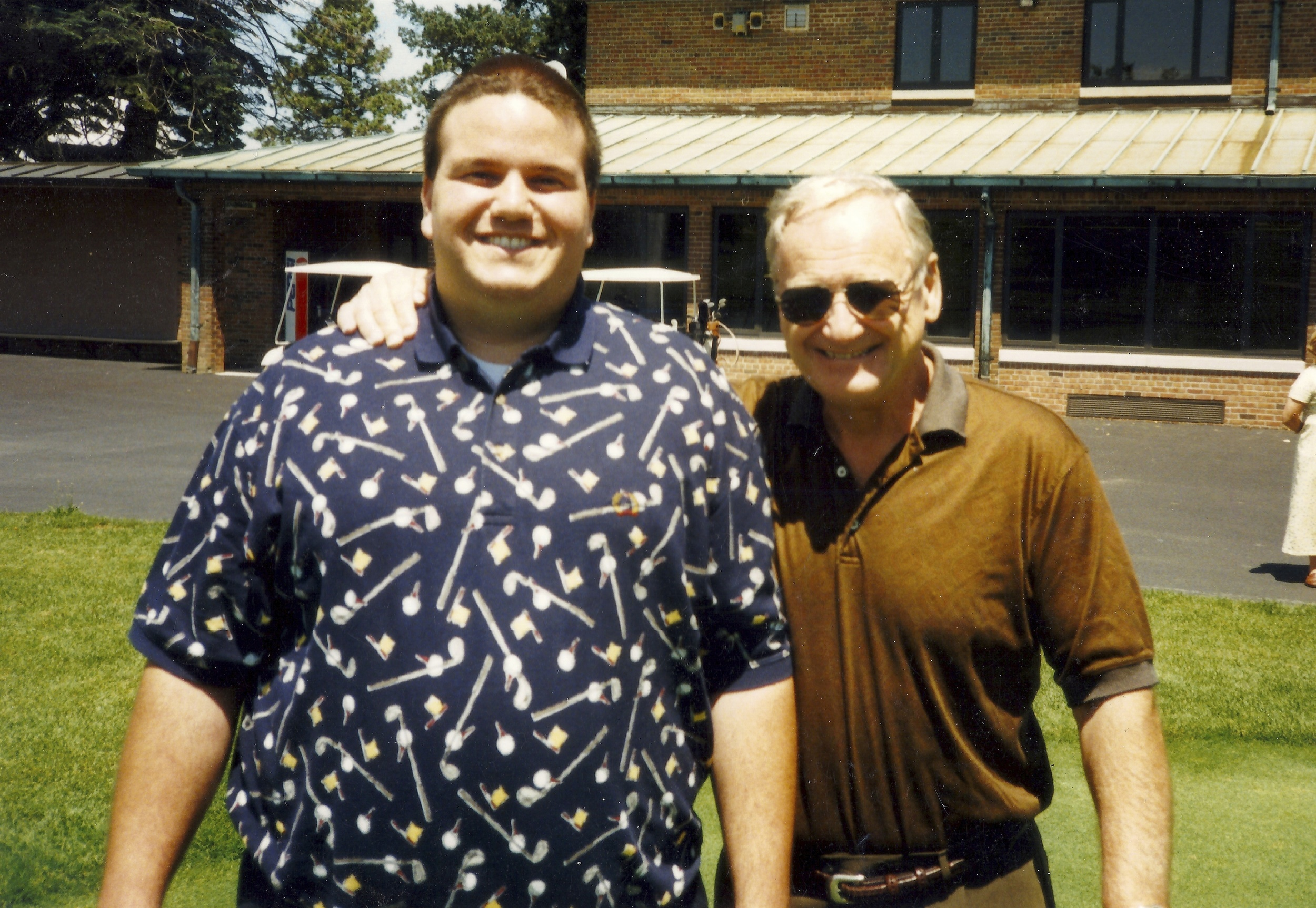 July 1998 - Best birthday present I ever received... interviewed Bo for TV50 and spent about a half hour walking The U Course with him.