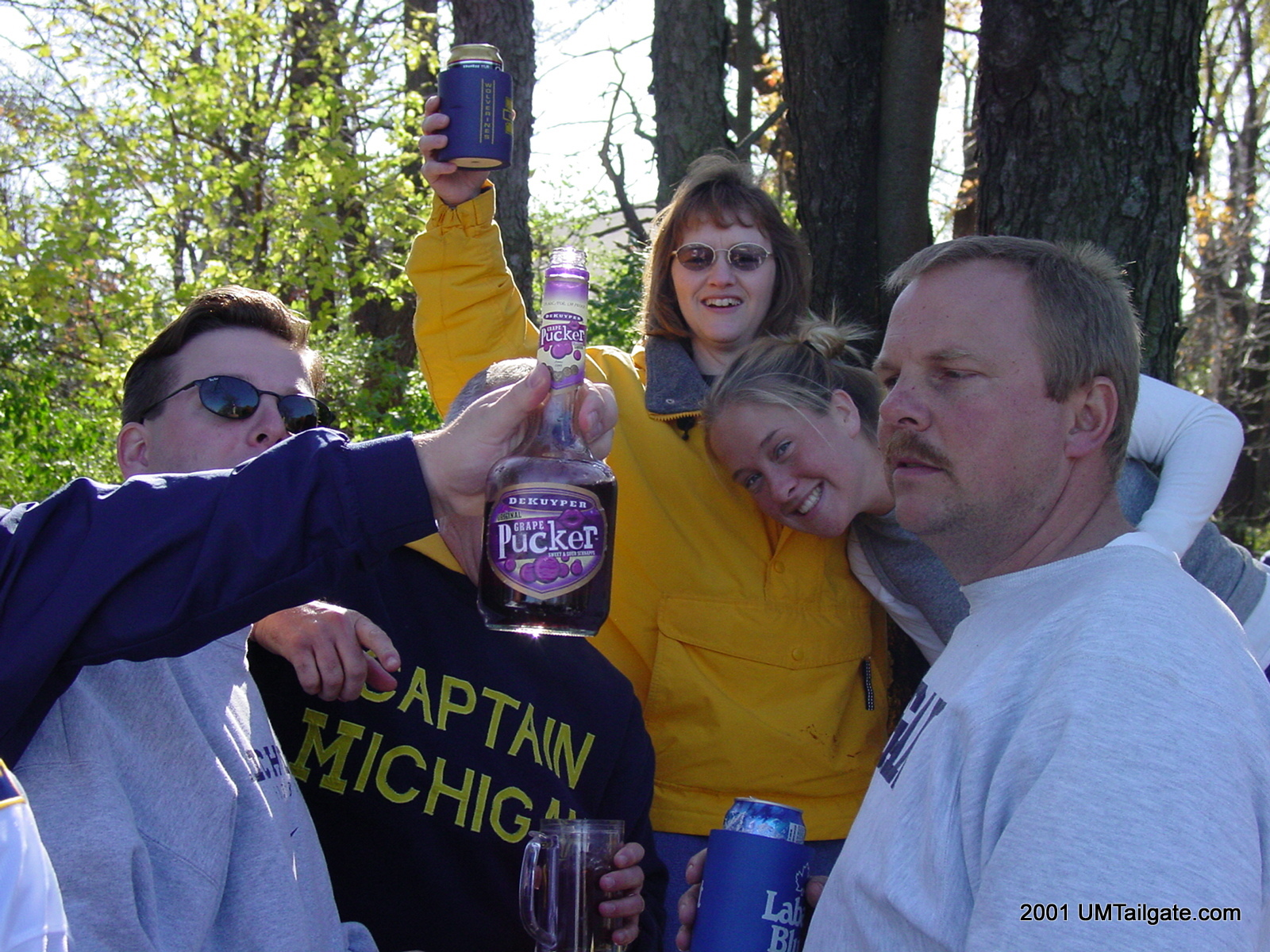 November 3, 2001: The group shares a toast happily before the game. Later Stephen would place a call to Jim Delaney's office, and we'd tear that parking lot down to a point where now, even 12 years later, no one is allowed to park there. Michigan 24 - Michigan State 20 (+6)