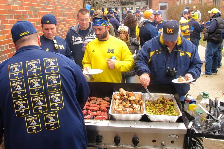 November 26, 2011: Breakfast of champions before Michigan knocks off Ohio State 40-34.