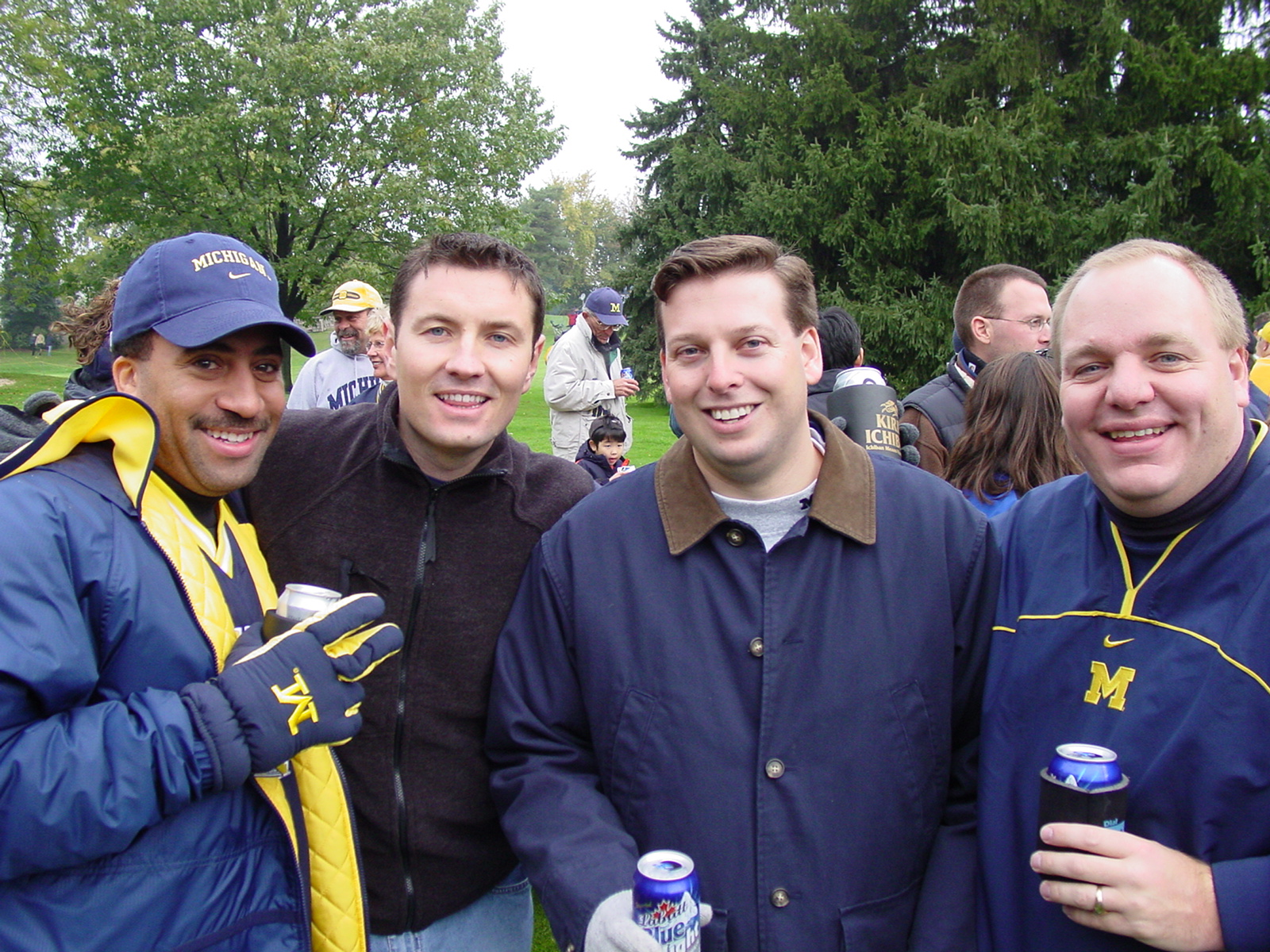 October 26, 2002 - The old roommates reunite before a 34-9 pasting by the Hawkeyes.  This would be the last time pumpkins or hay were at a tailgate.
