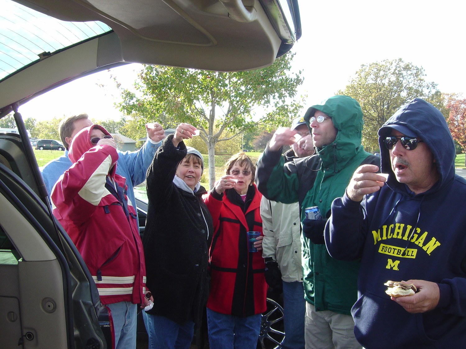 October 16, 2004: Road shooters before Michigan's 30-19 victory over the Illini