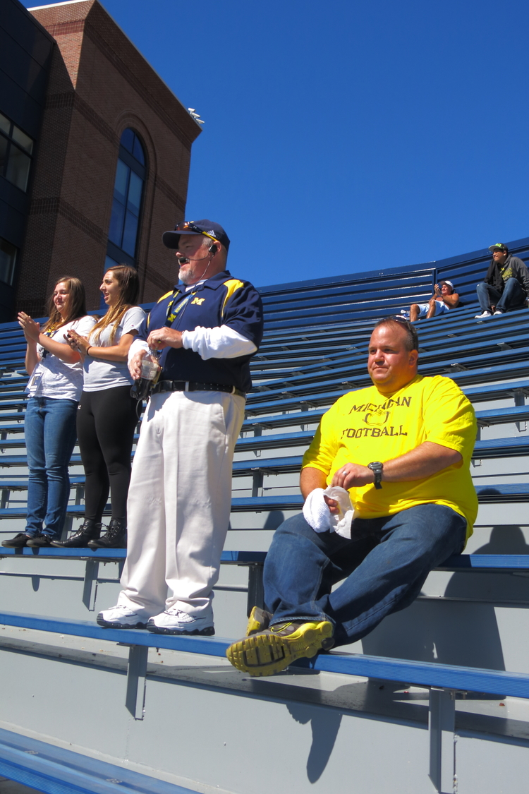 9/14/13: Michigan 28-Akron 24  : The students are protesting...and I couldn't be happier with section 30 all to myself.