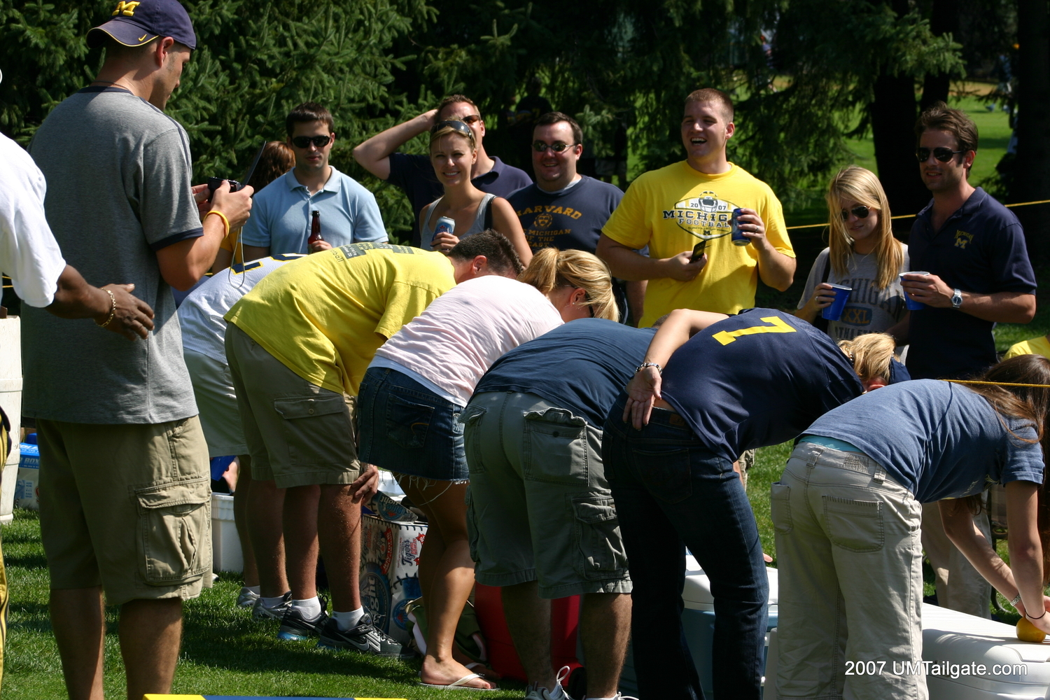 September 8, 2007:  A crew rolls lemons before Michigan gets rolled 39-7 by Oregon.  Pretty sure all the remaining WBW's are going to be from disappointing defeats.  Shouldn't be hard to do.