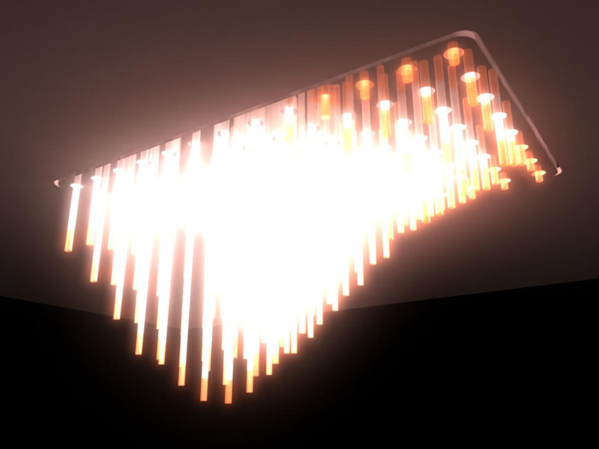Parametric Actuator Light Fixture Fully Open