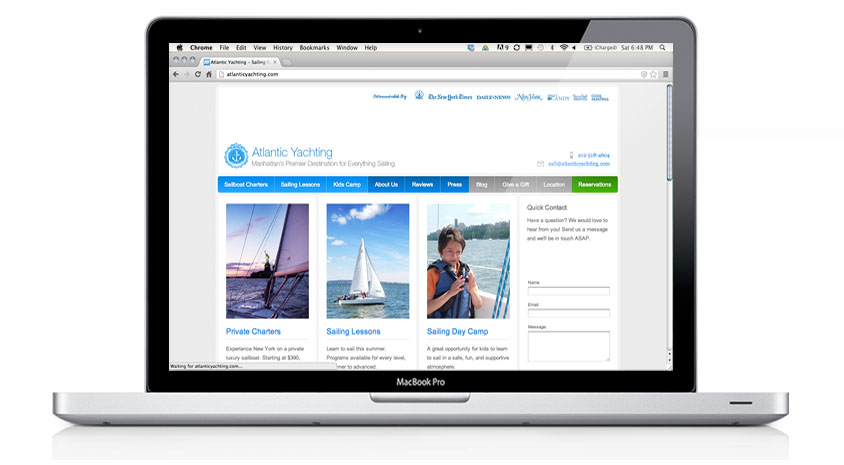 Atlantic Yachting Website