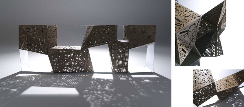 Nick Gelpi and Steven Holl Riddled Furniture