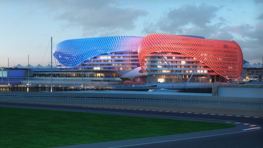 Yas Hotel Abu Dhabi by Asymptote Architecture