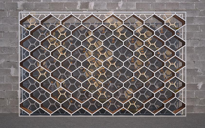 Cairo Series   Display Shelving (Large)
