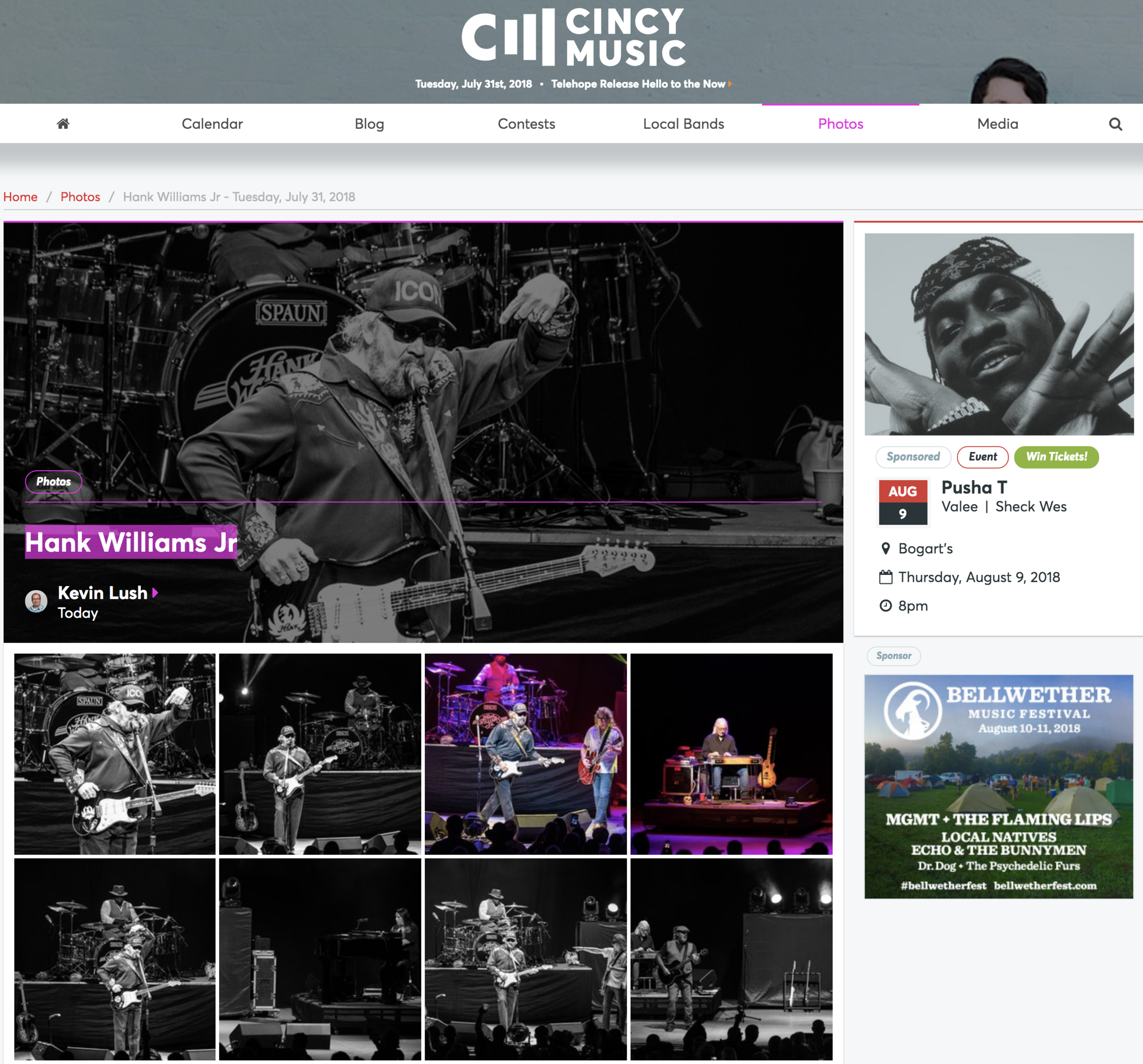 Photos Of Hank Williams Jr. And Tucker Beathard Concert Published On CincyMusic.com