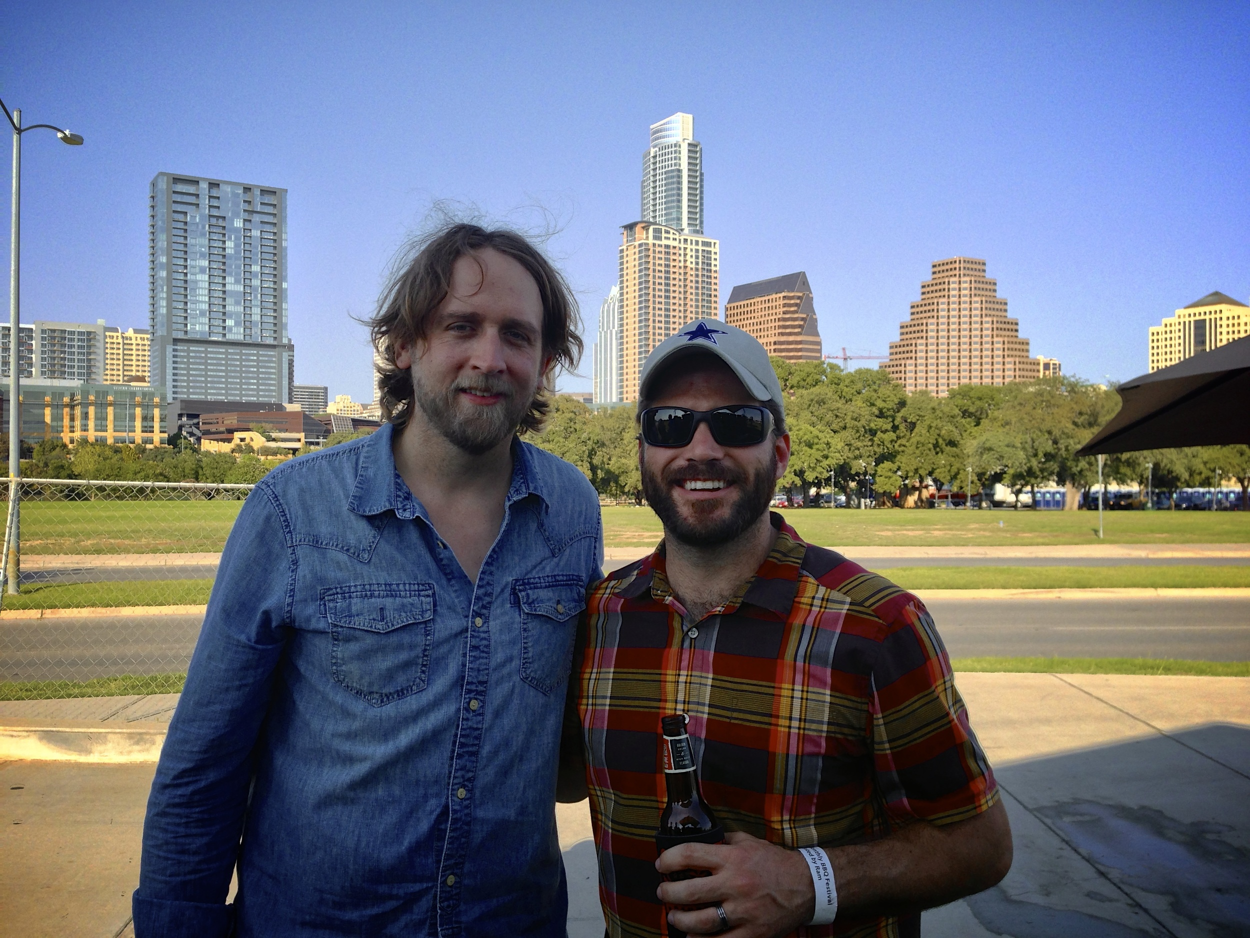 Hayes Carll and me after the show.