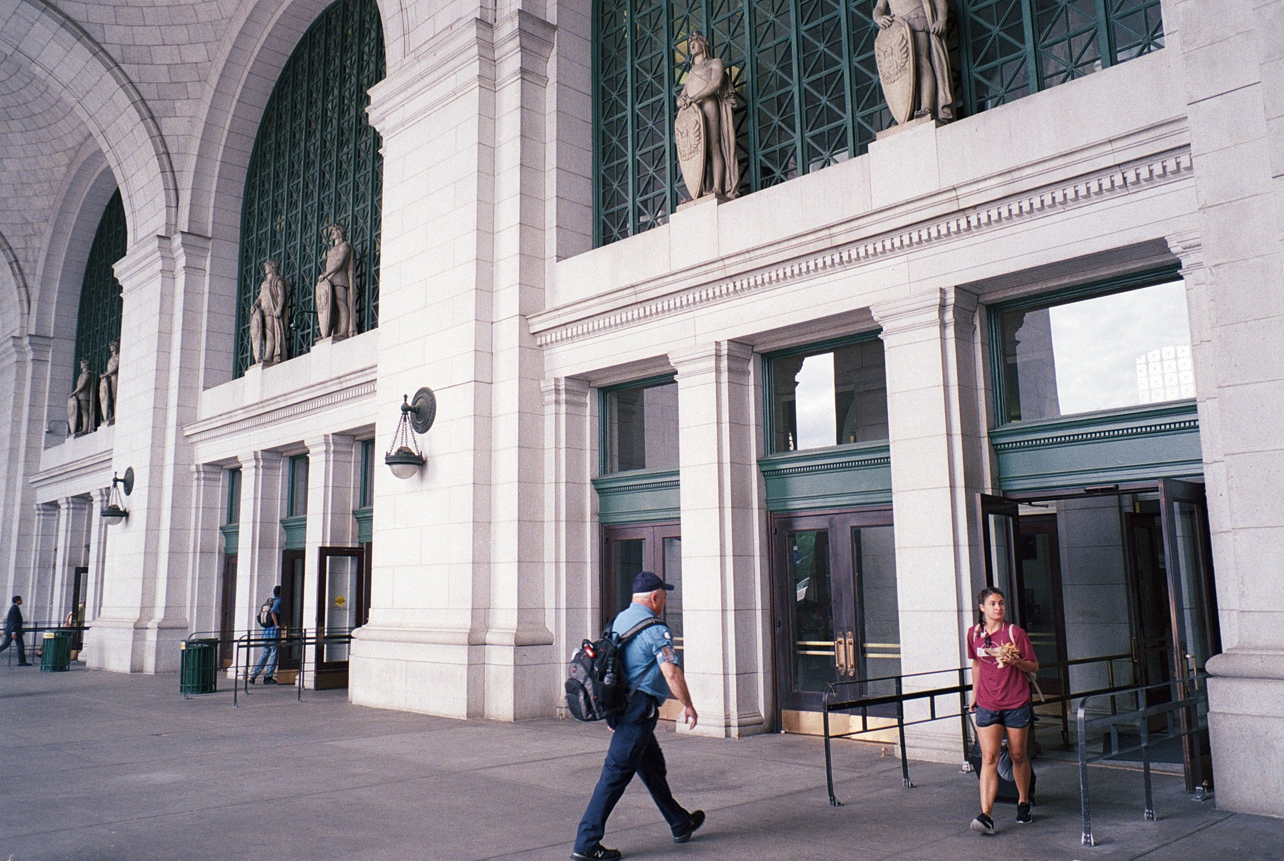 The entrance to Union Station.