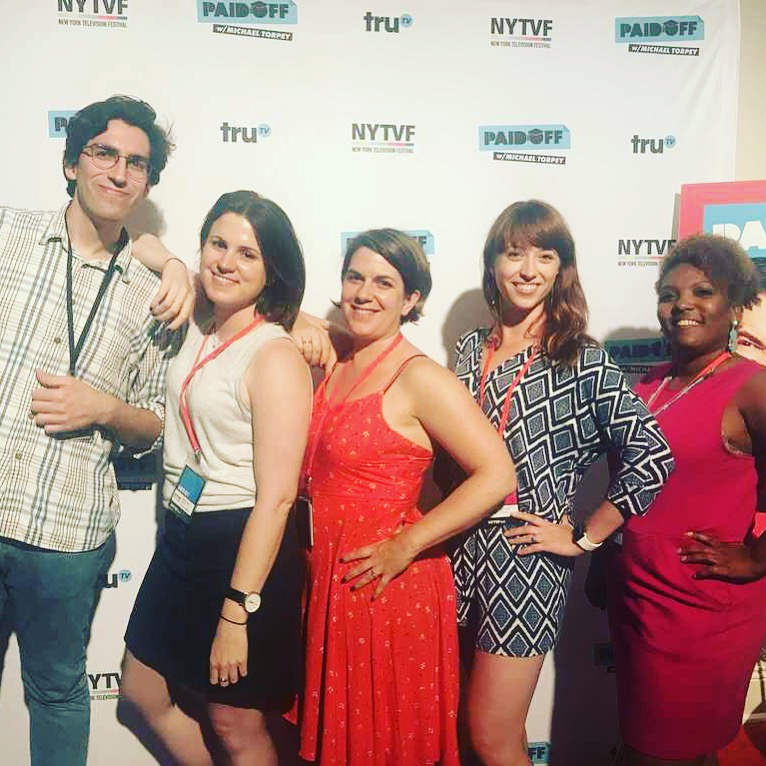 Half of my writing group at NYTVF. Look at these stars!