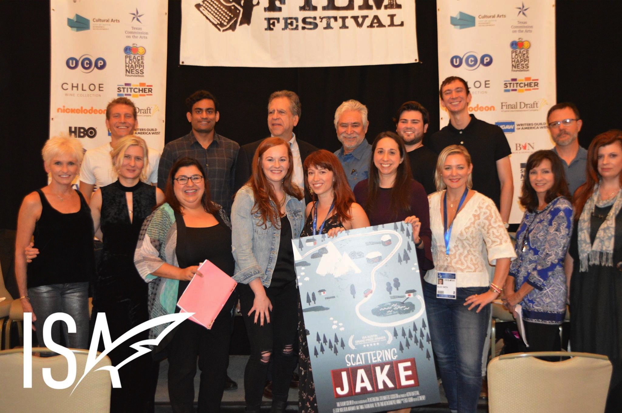 The fabulous  Scattering Jake  cast assembled by the Table Read My Screenplay contest!