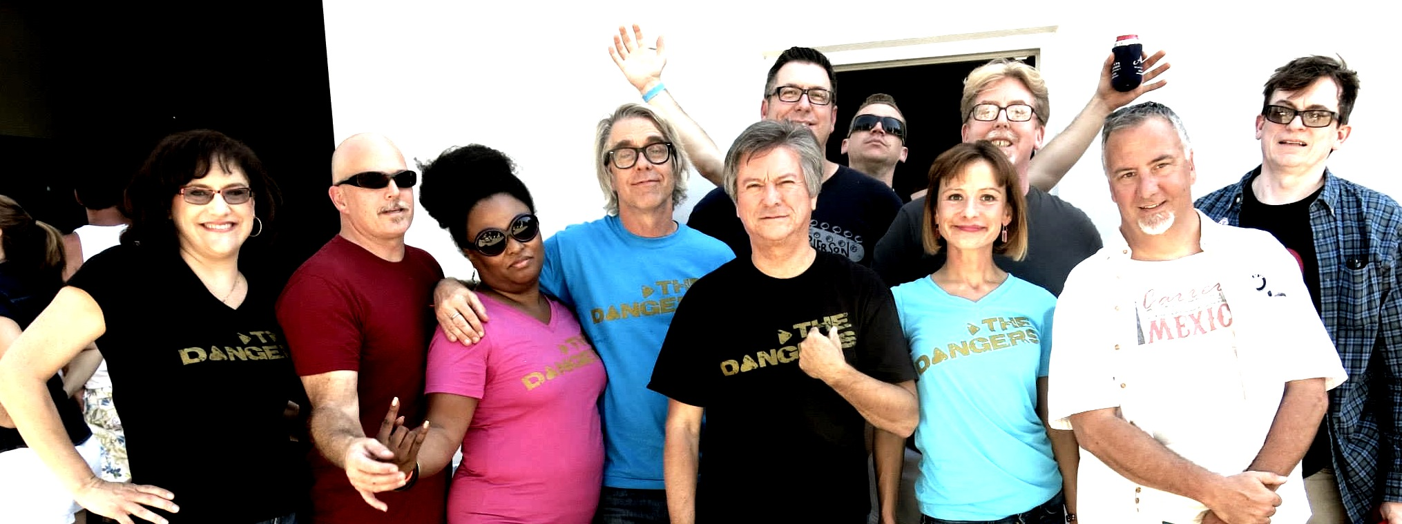 The Dangers' GOLD t-shirts are available in men's and women's styles