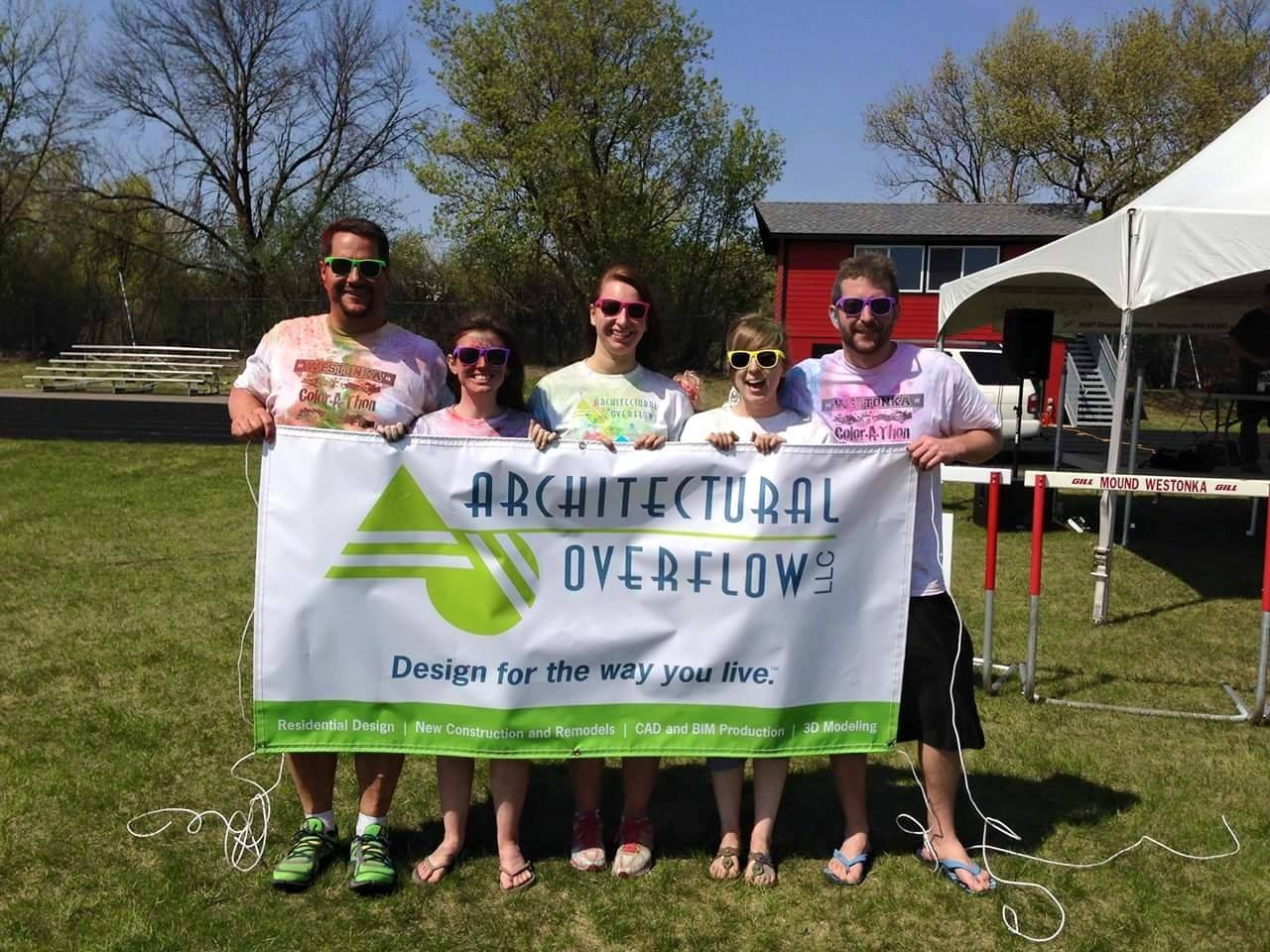 More of our team representing the westonka color-a-thon