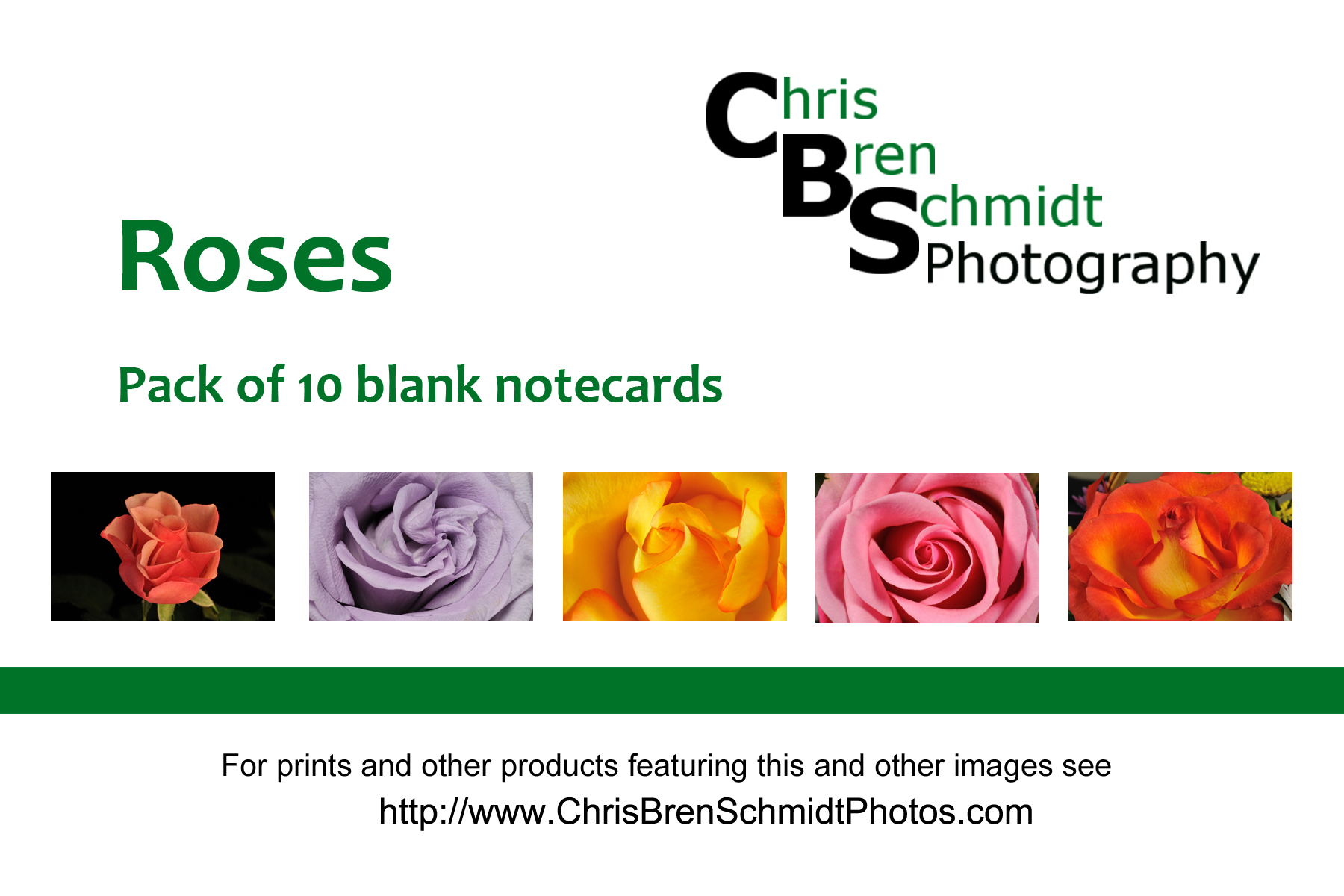 Roses Notecards