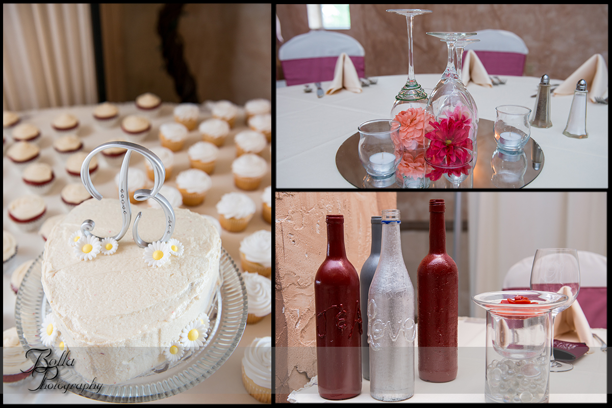 016-villa-marie-winery-maryville-il-wedding-reception-cake-cupcakes-centerpiece-bottles-wine-glasses-flowers-red-silver-pink.jpg