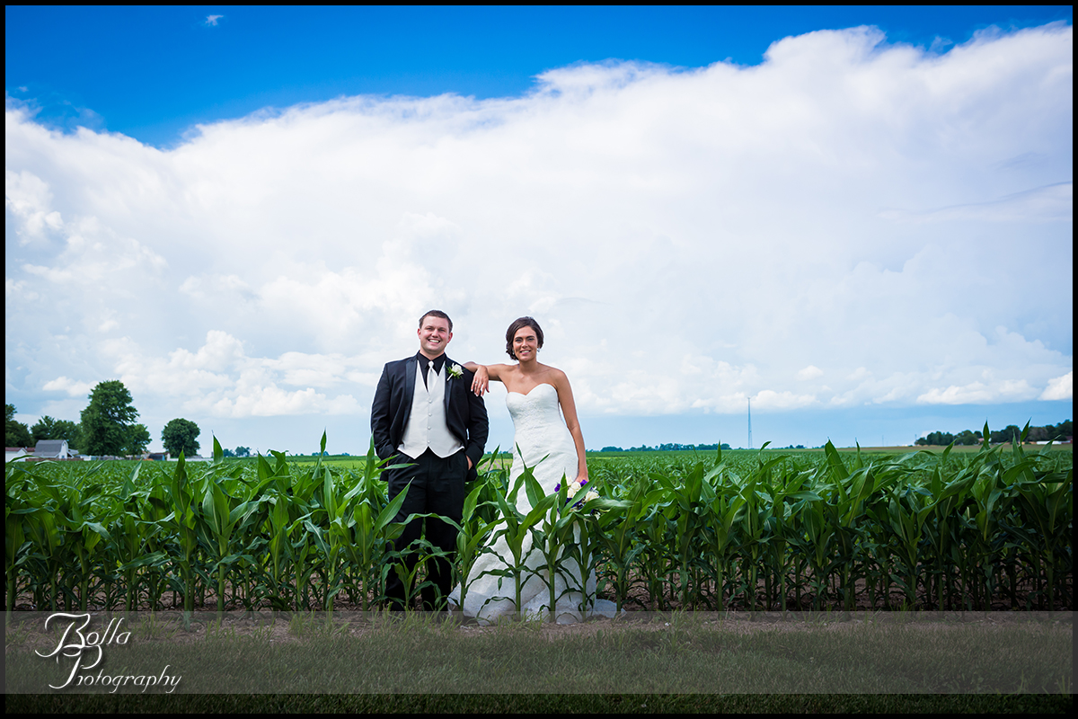 011_Bolla_Photography-wedding-portraits-bride-groom-couple-cornfield-clouds-New_Baden-Hibbs.jpg