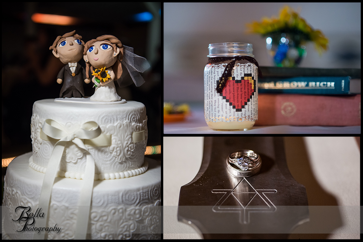 012_Bolla_Photography-fall-wedding-reception-cake-decorations-zelda-sword-book-dice-centerpieces-rings-Highland-Kuhl.jpg