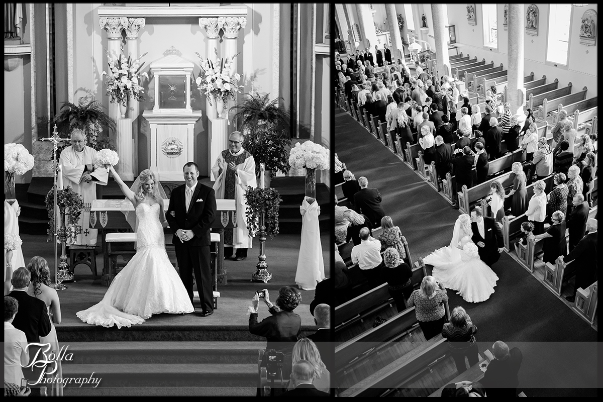 010-Bolla-Photography-wedding-Germantown-IL-ceremony-church-bride-groom-cheer-exit-recessional-kiss-aisle-Albers.jpg