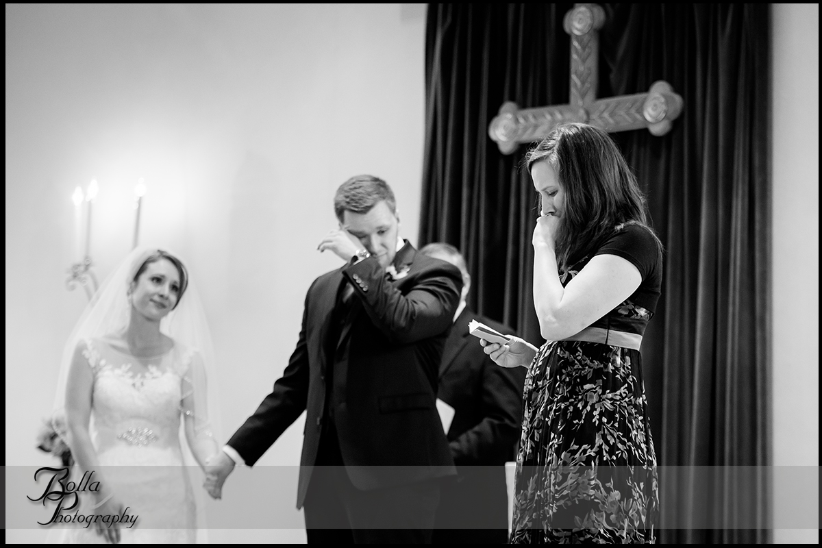 010-Bolla-Photography-Saint-Louis-wedding-photographer-McKendree-Bothwell-Chapel-Lebanon-IL-ceremony-Regency-OFallon-IL-reception-bride-groom-sister-reading-crying-tears-McClain.jpg