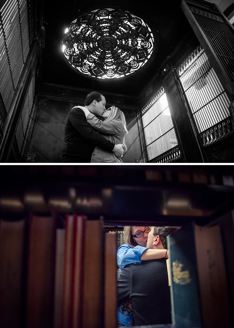 bolla-photography-st-louis-edwardsville-siue-library-engagement-winter-books-elevator