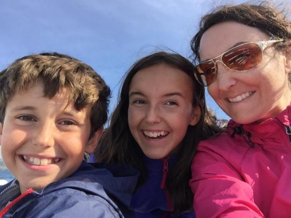 Les enfants et moi, en vacances, cet été.