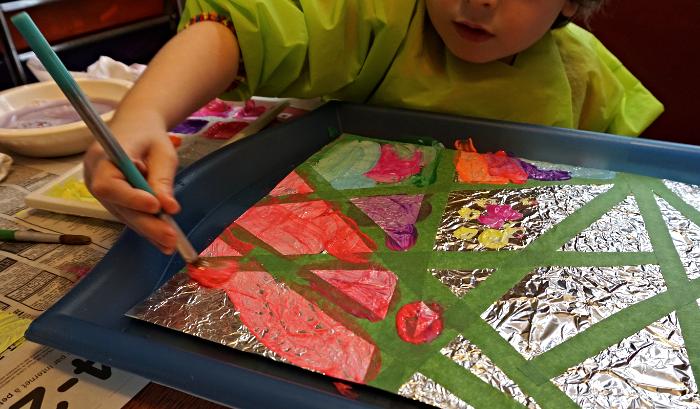 Bricolage Peinture Sur Papier D Aluminium Je Suis Une Maman