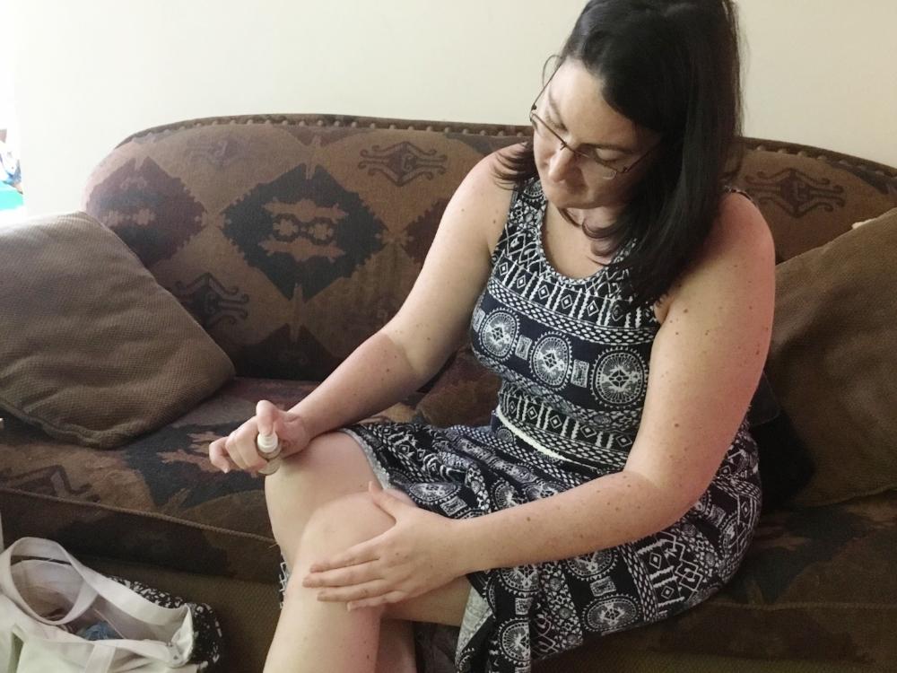 """""""Je constate une nette amélioration de mes douleurs de genou, pour mon plus grand bonheur!""""  Photo : Annie Goudreau"""