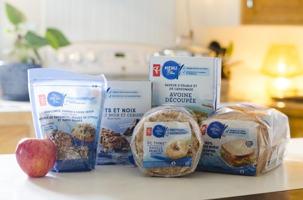 Les produits PC Menu Bleu...un choix santé!  Photo par Catherine Galarneau