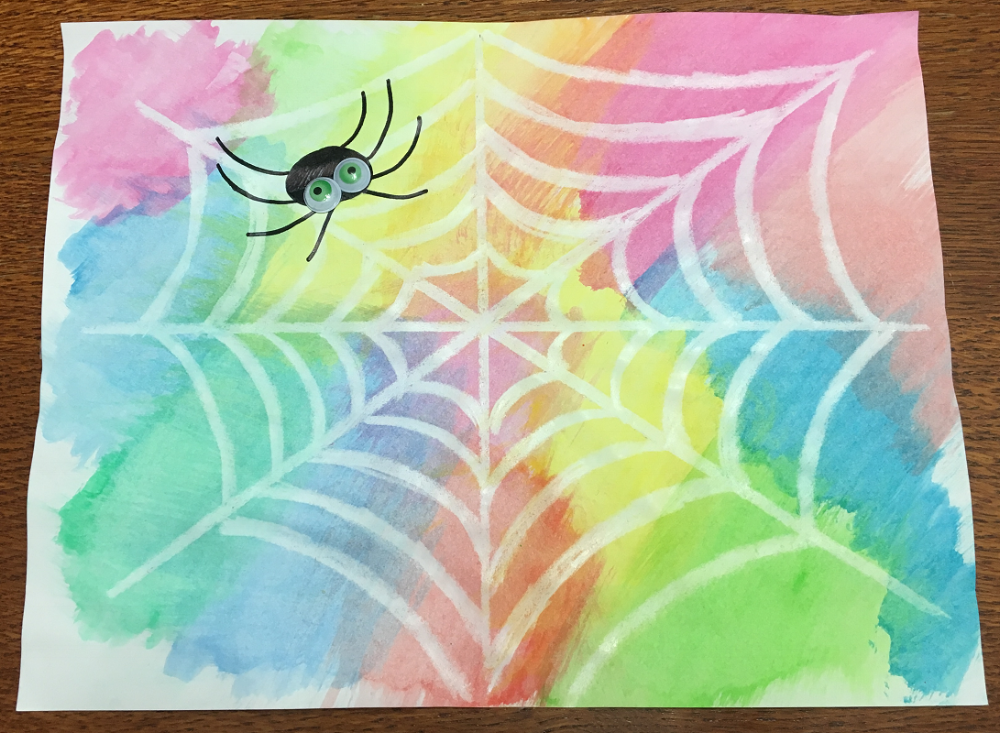 toile et araignée Halloween