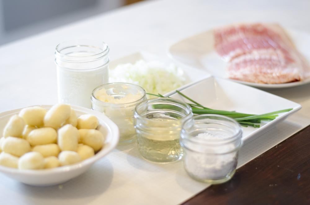 ingrédients souper gnocchis