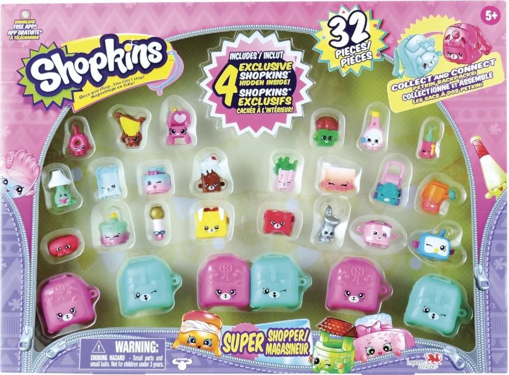 Coffret super magasineur Shopkins , 33 pces